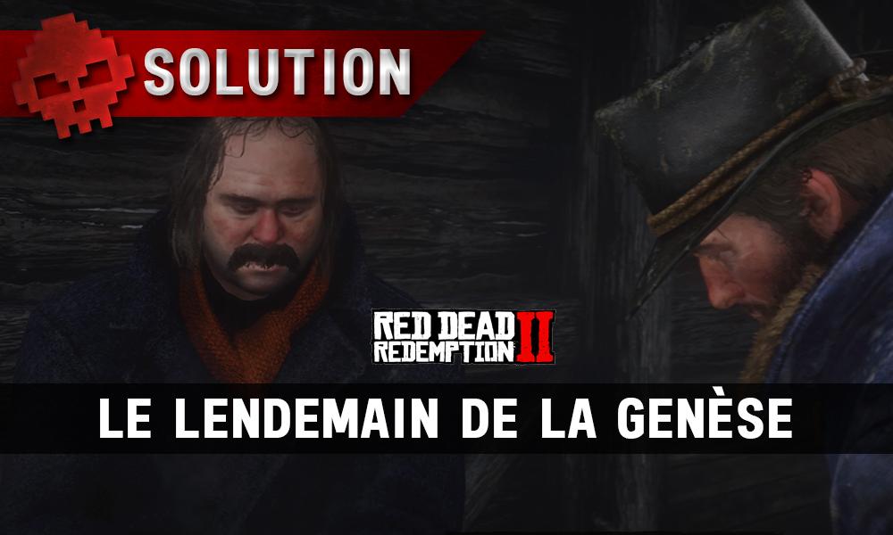 vignette soluce red dead redemption 2 le lendemain de la genèse