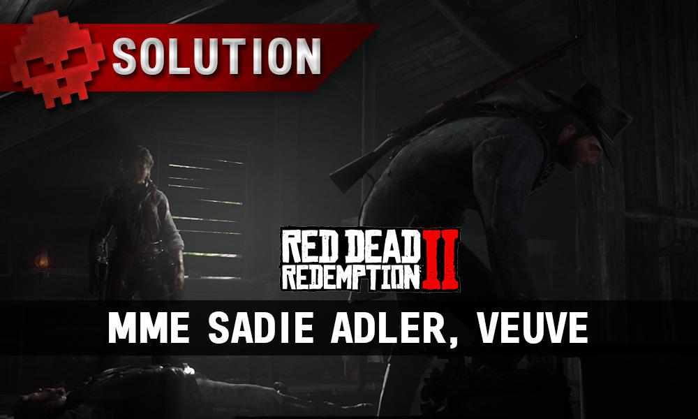 vignette soluce red dead redemption 2 mme sadie adler veuve