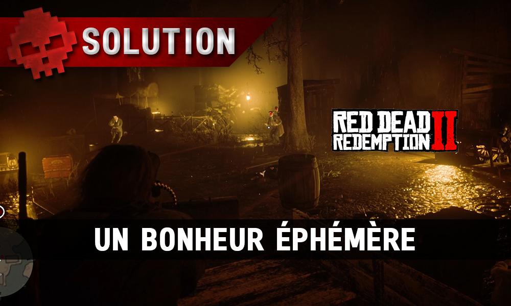 vignette soluce red dead redemption 2 un bonheur éphémère
