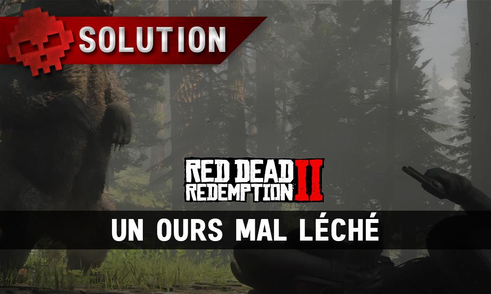 vignette soluce red dead redemption 2 un ours mal léché