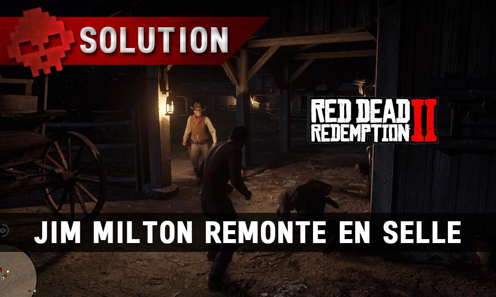 vignette solution red dead redemption 2 jim milton remonte en selle