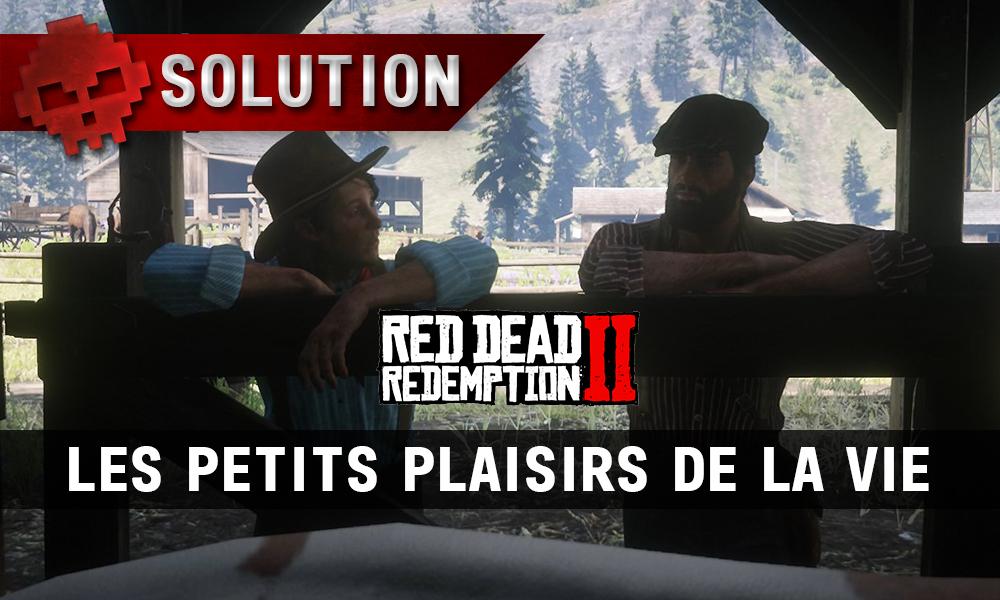 vignette solution red dead redemption 2 les petits plaisirs de la vie