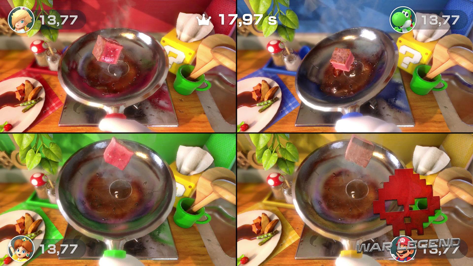 Test Super Mario Party de la poêle à frire