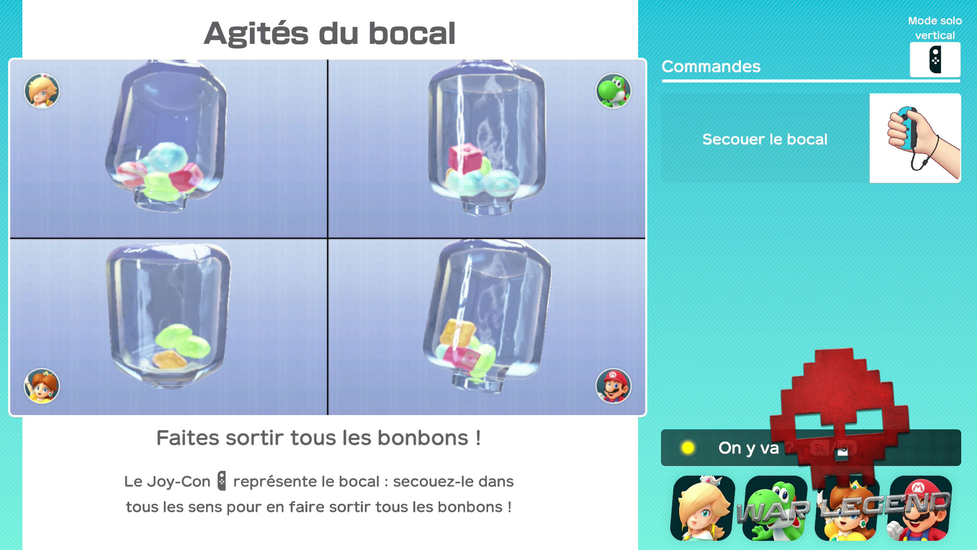 Test Super Mario Party écran d'essai du mini-jeu