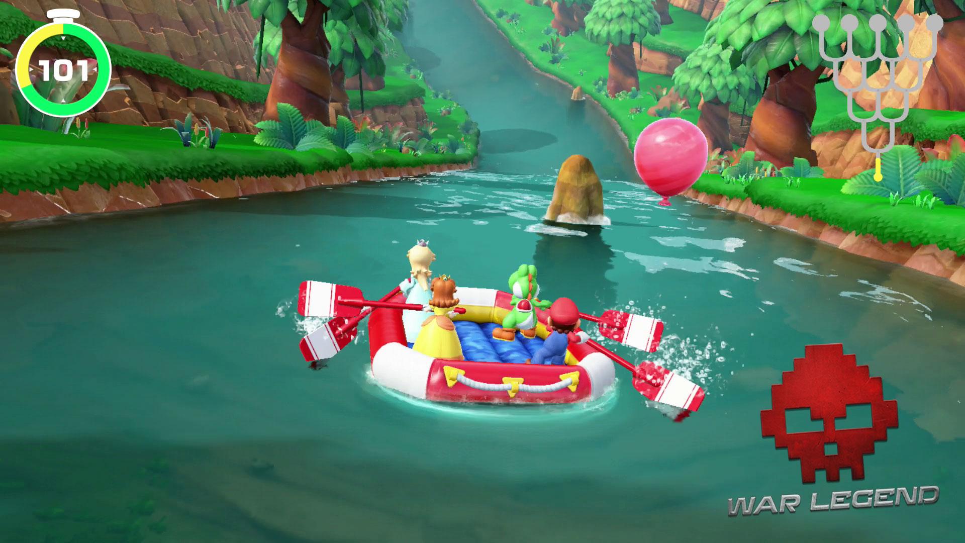 Test Super Mario Party session de rafting