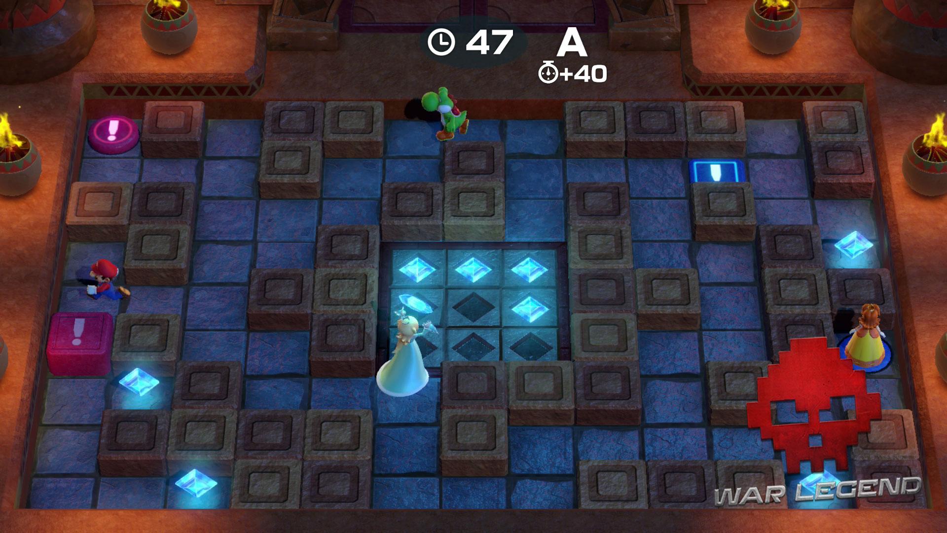 Test Super Mario Party exemple mini-jeu coopération