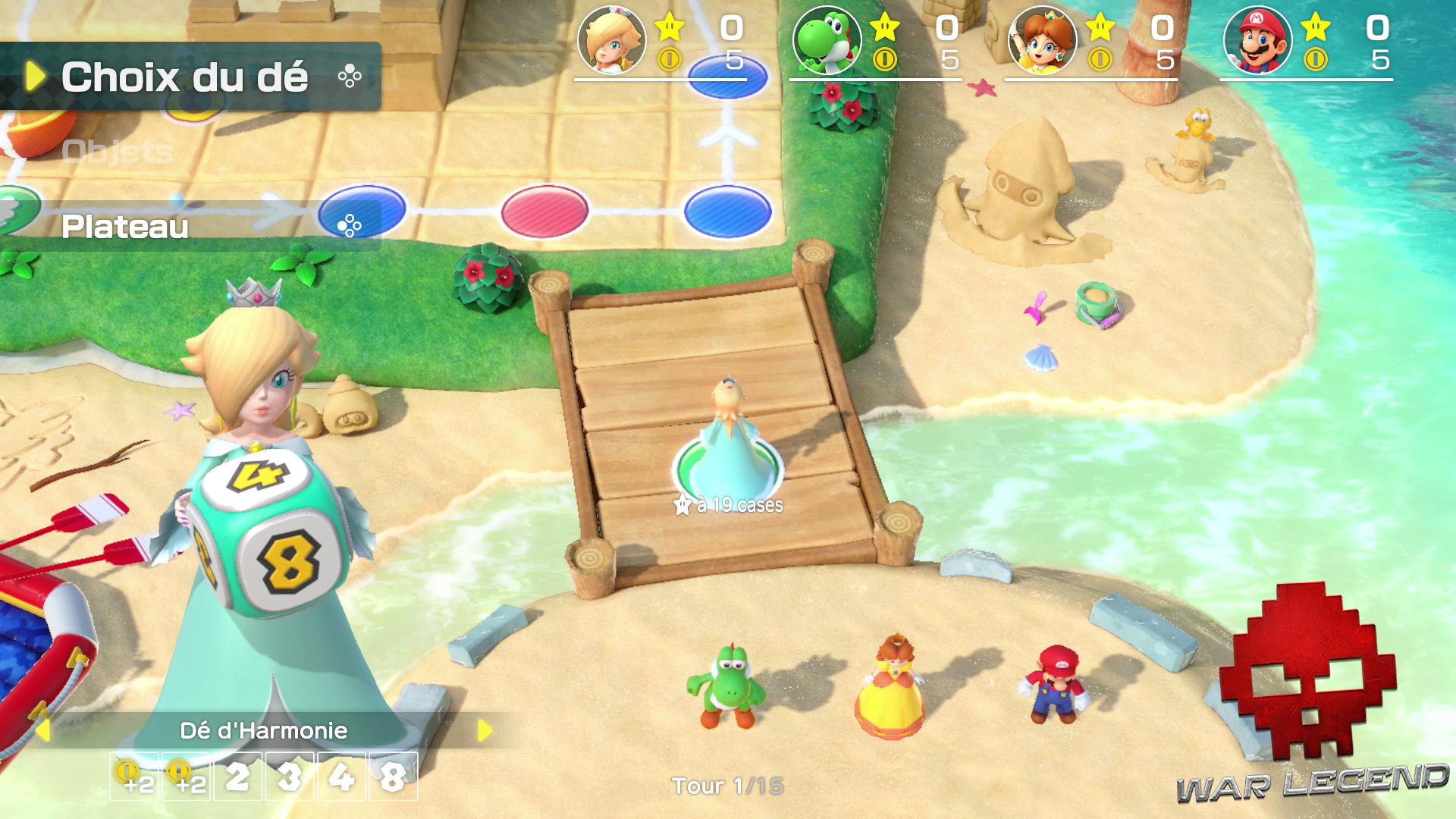 Test Super Mario Party le dé spécial d'Harmonie
