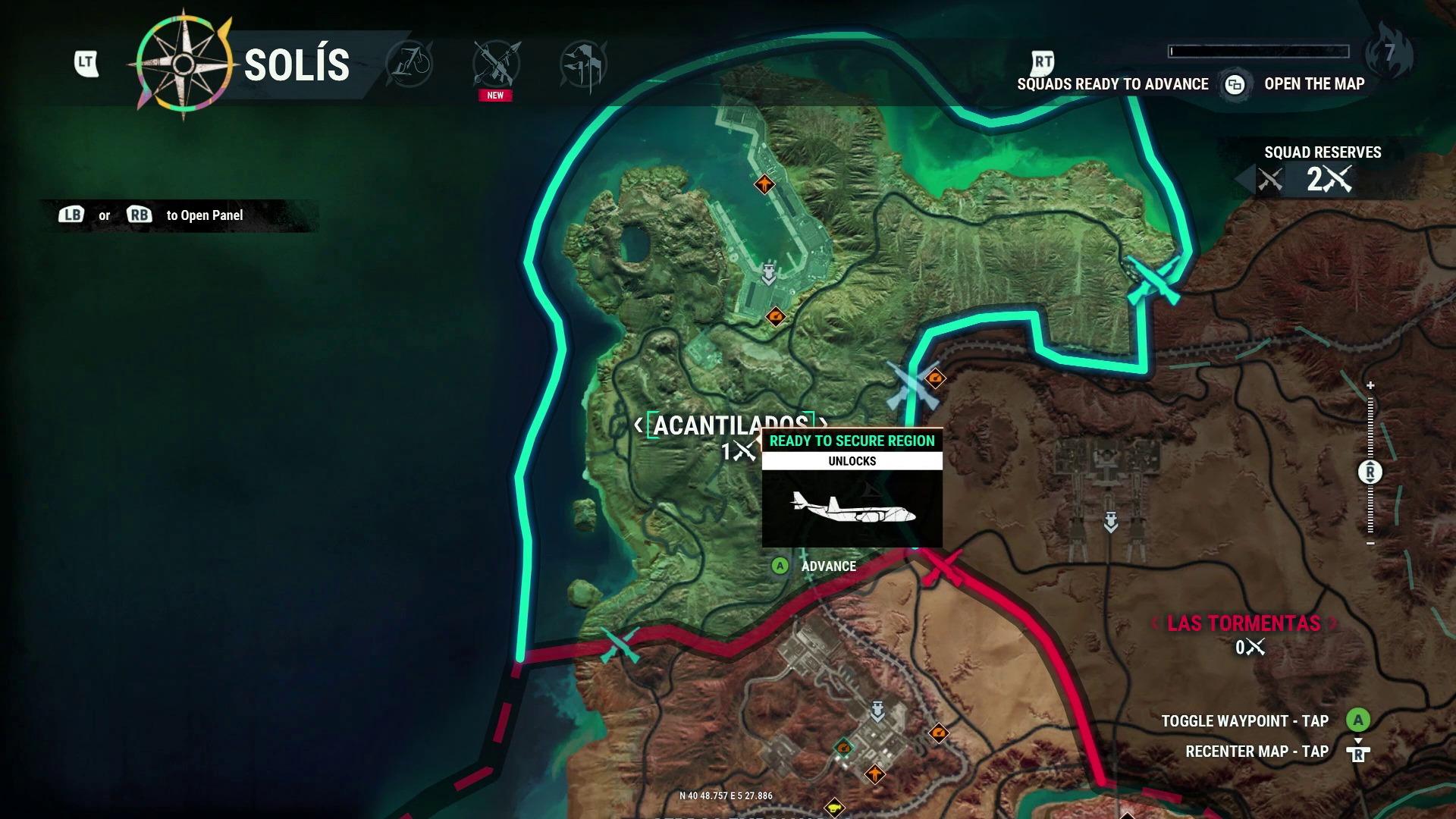 Aperçu Just Cause 4 La carte tactique de l'île