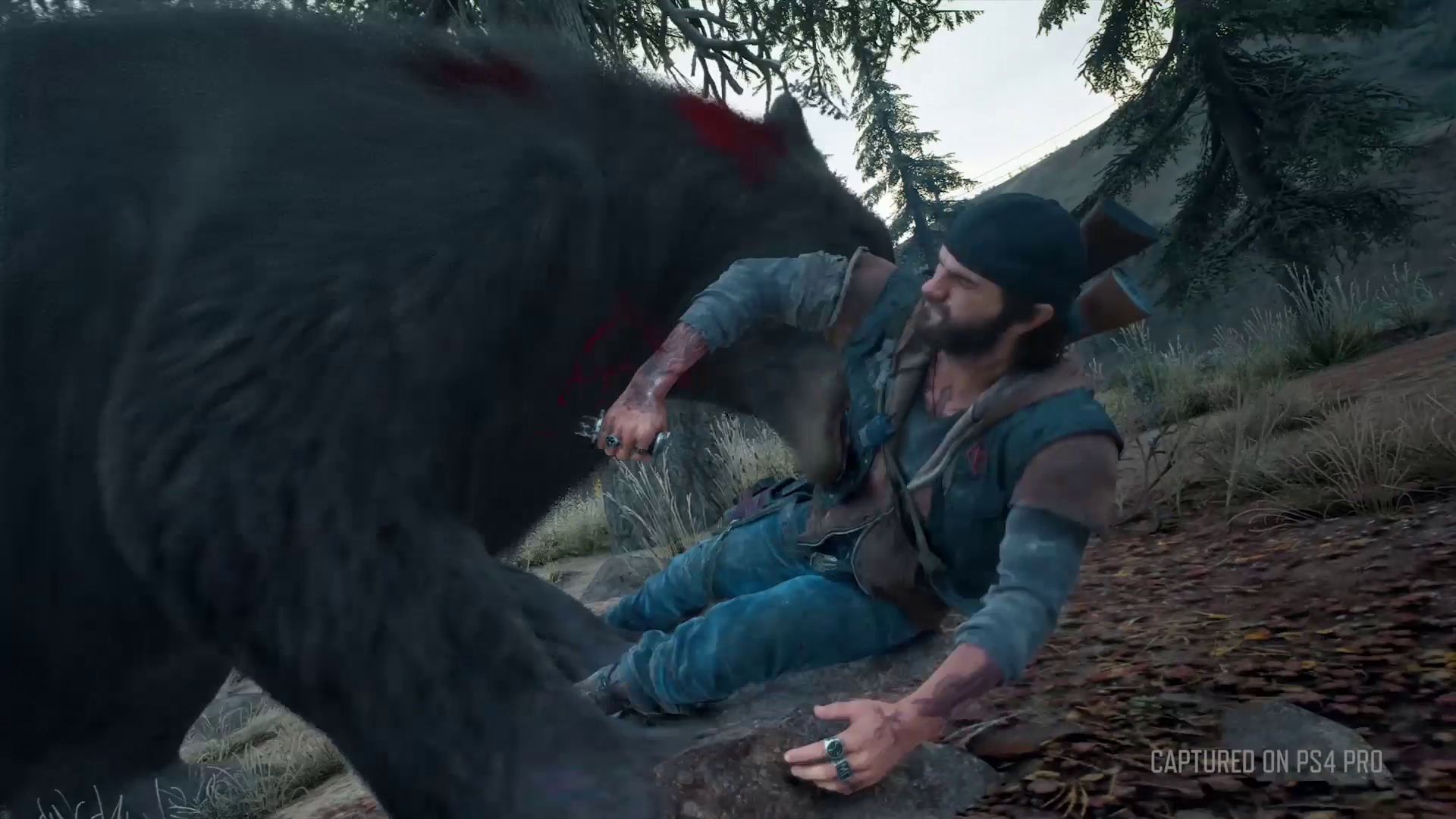 Preview Days Gone - Attaque d'un Grizzly Mutant