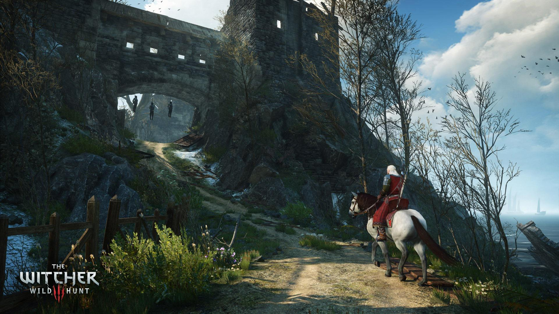 The Witcher III Geralt à cheval